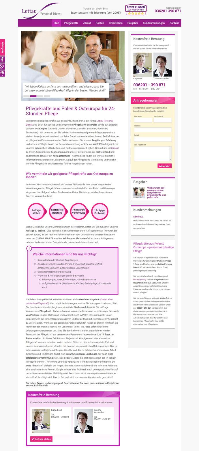 referenz, pflege, polen, webdesign, erfurt