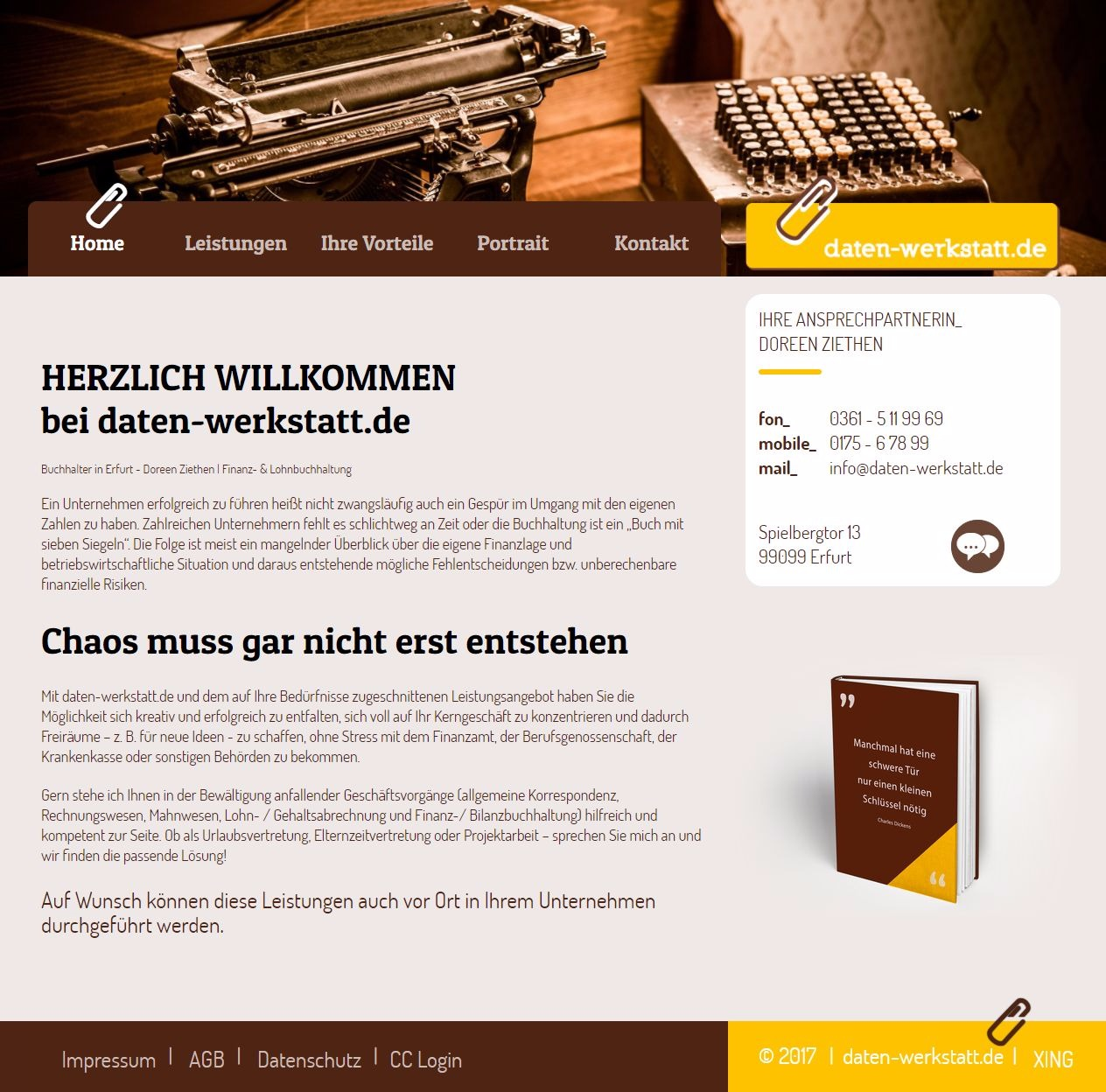 Buchhalter, Erfurt, Doreen Ziethen, Finanzbuchhaltung, Lohnbuchhaltung